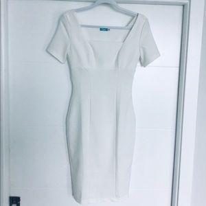 White classy midi dress